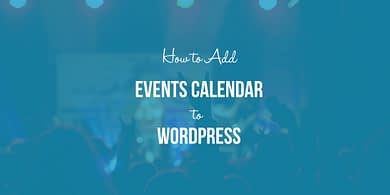 Add Events Calendar to WordPress
