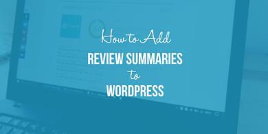 add review summaries to WordPress