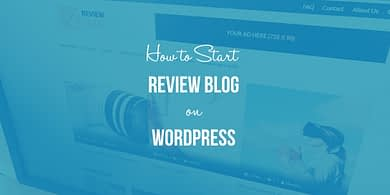 start a WordPress review blog
