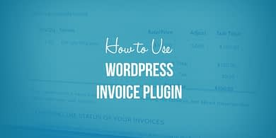 WordPress invoice plugin