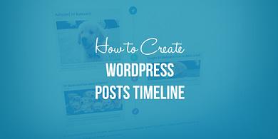 Create a WordPress Posts Timeline
