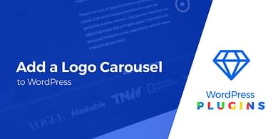 add a logo carousel to WordPress