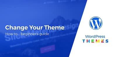 how to change a WordPress theme