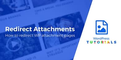 redirect WordPress attachment pages