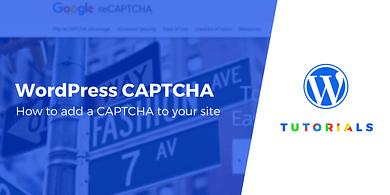 WordPress CAPTCHA