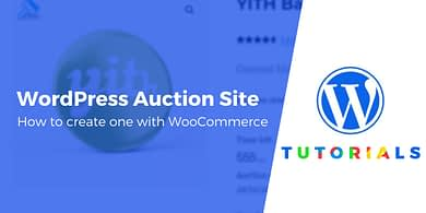 WordPress auction site