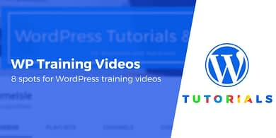 WordPress training videos