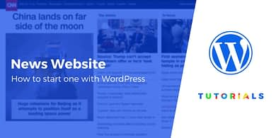 Starting a News Website With WordPress