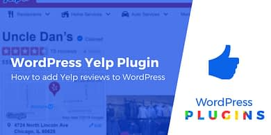 WordPress Yelp plugin