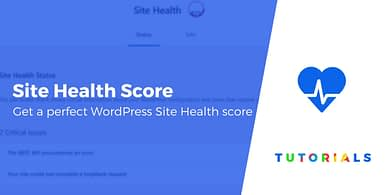 WordPress Site Health score