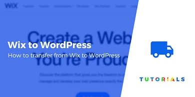 Transfer From Wix to WordPress