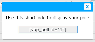 An example of a poll shortcode.