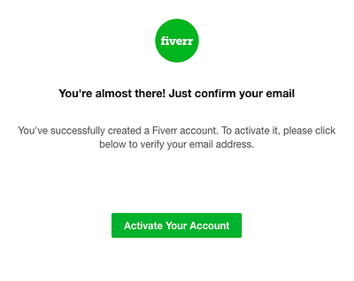 Fiverr account activated