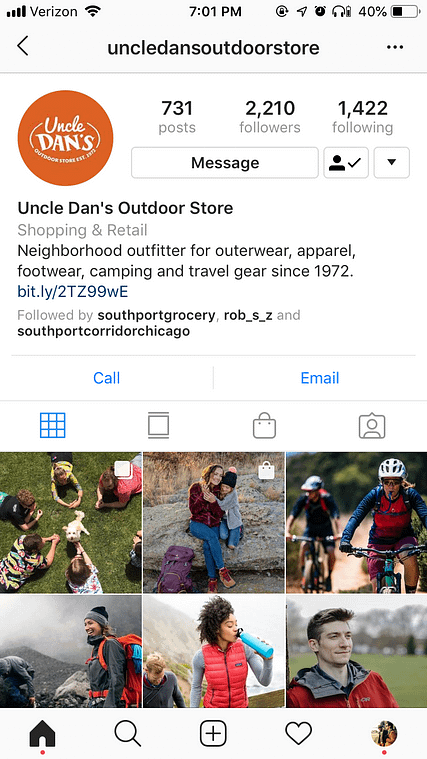 uncle dans Instagram Shoppable Posts