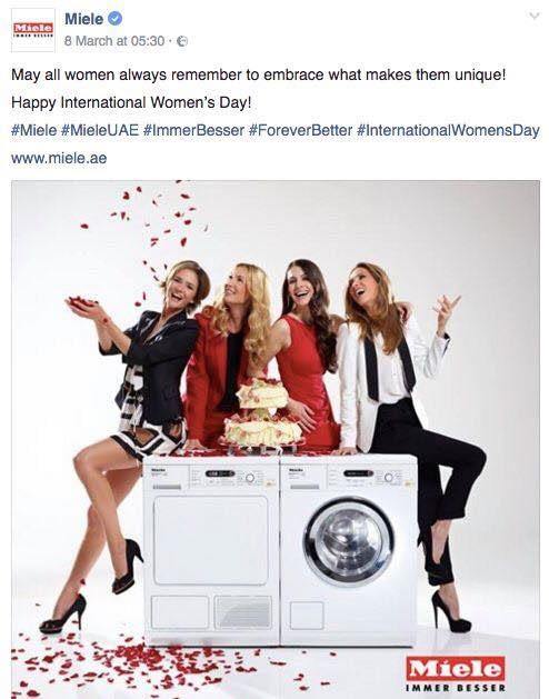 Miele International Women's day social media for business