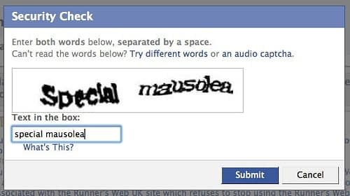 An example of a basic CAPTCHA.
