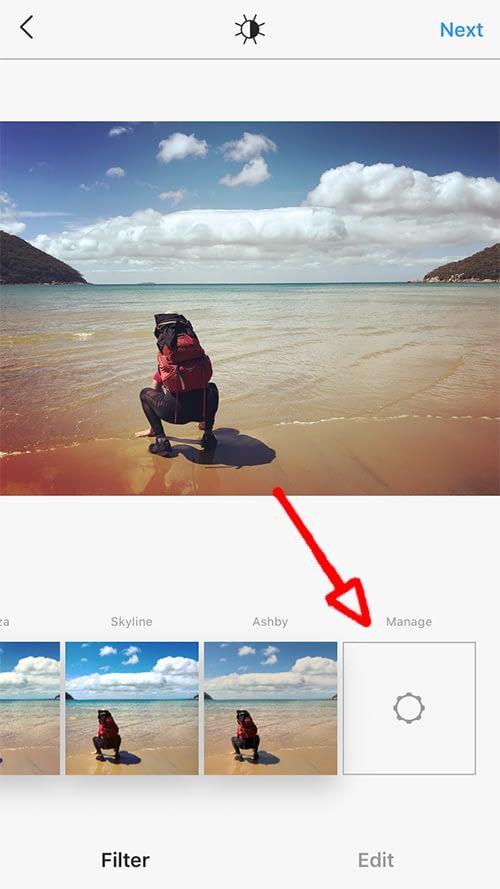 Managing Instagram filters