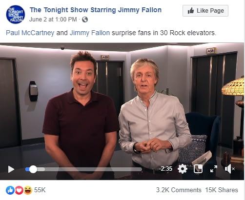 Paul McCartney on the Fallon show