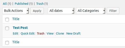 WordPress hacks #1: clone a post