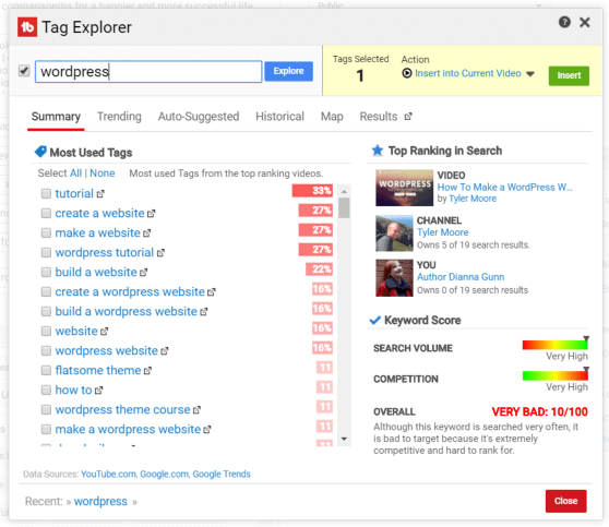 TubeBuddy for YouTube - Video Topic Planner