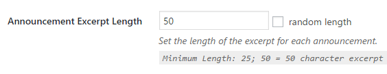 Determining the length of your announcements.