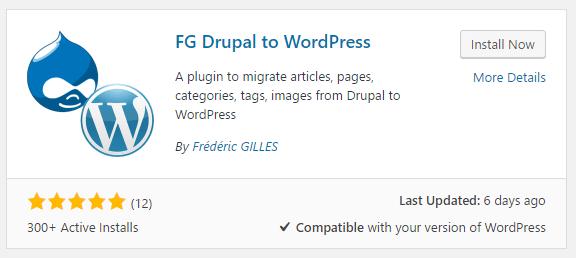 Installing a plugin from your dashboard.