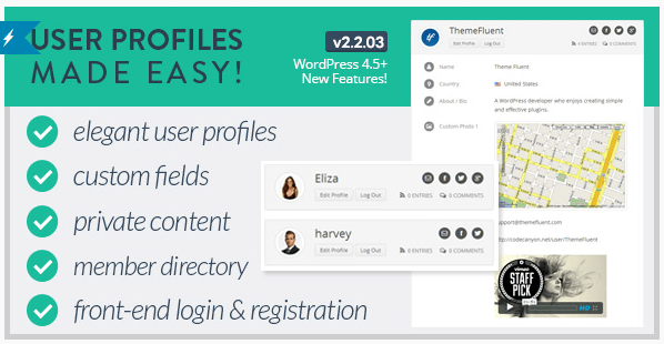 The User Profiles Made Easy plugin.
