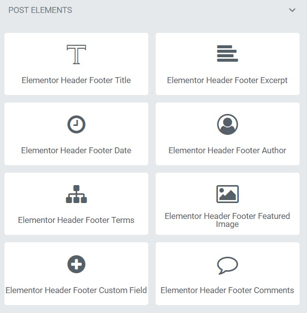 Header Footer Block Elementor