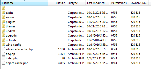 The wp-content folder.