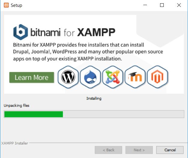 XAMPP install process