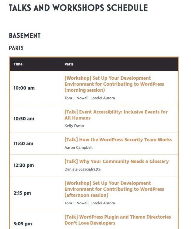 WCEU 2017 workshops