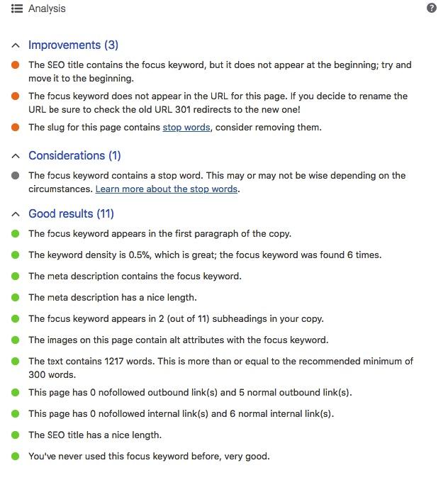 yoast tips
