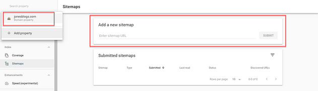 Add New Sitemap
