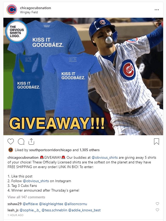 cubs giveaway