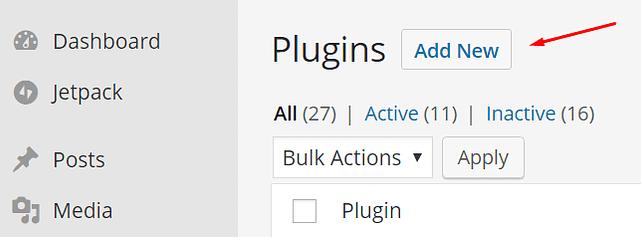 WordPress'e yeni eklenti ekle