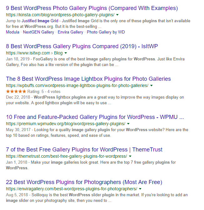 Looking up WordPress image plugins.
