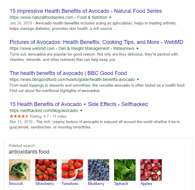 Researching the health benefits of eating avocado.