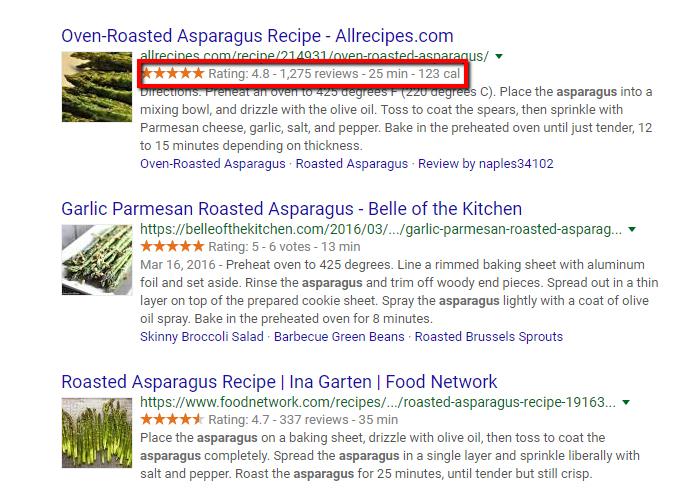 what a recipe schema looks like