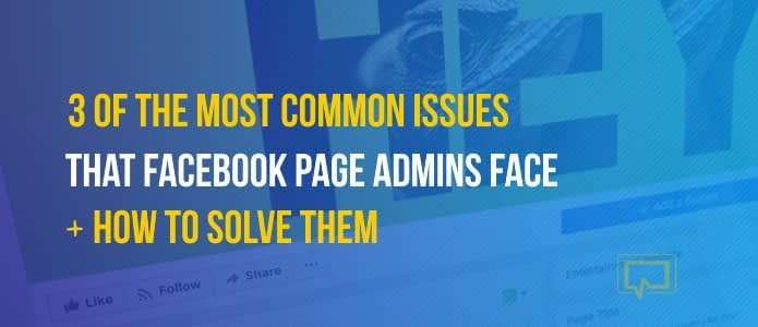 common Facebook page issues