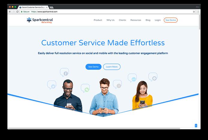 Social media customer service helper: Sparkcentral