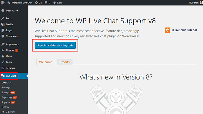 Wp-Live Chat Support Plugin