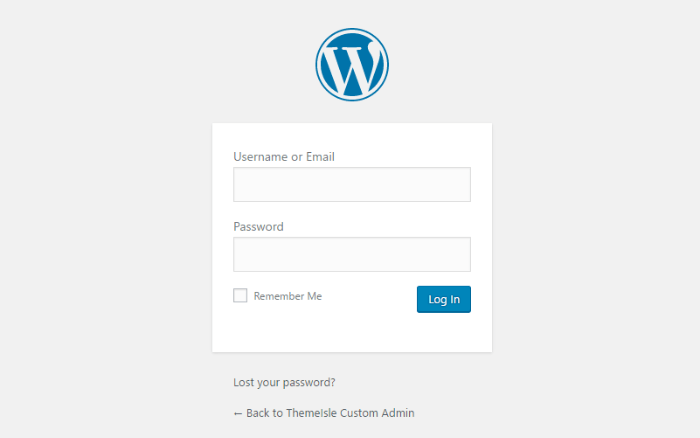Customize WordPress admin - login page first
