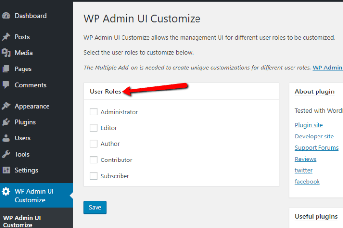 admin-ui-customize
