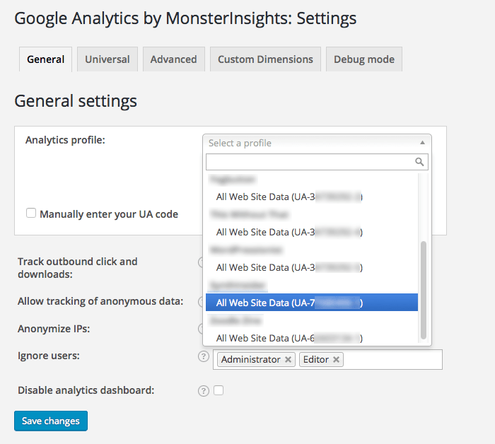 google-analytics-wordpress-plugin-property