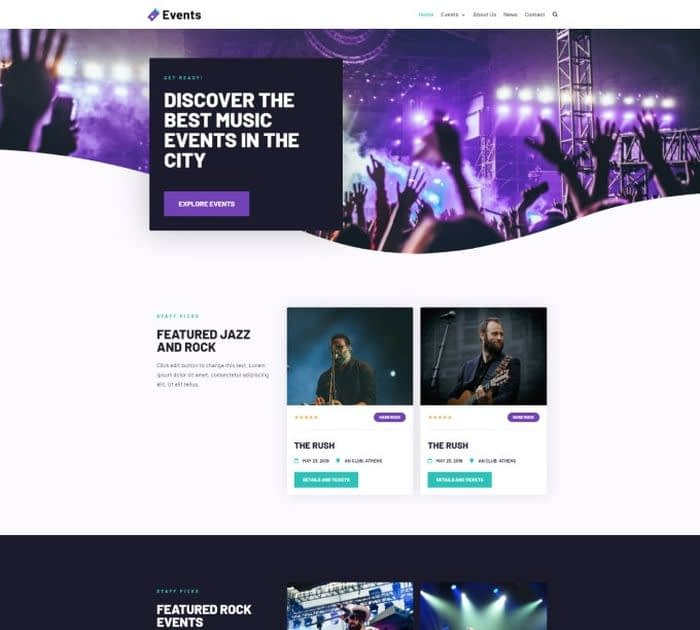 best event / conference themes for WordPress: Neve