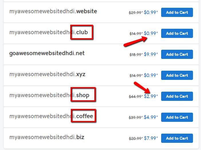 unique domain name extensions
