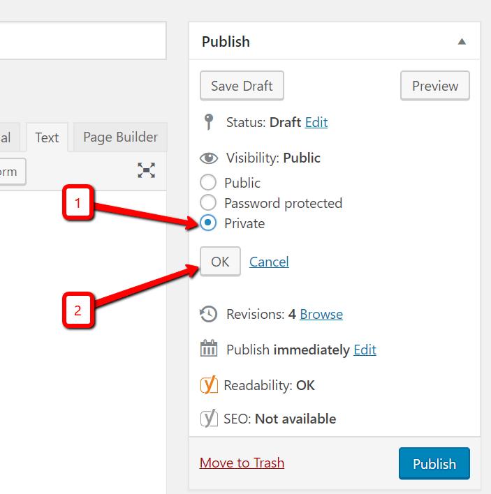 select private then ok