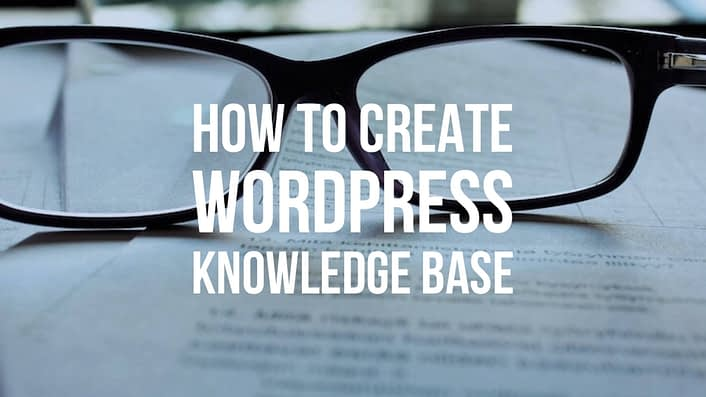 WordPress knowledge base