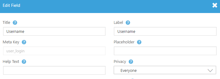 An example of some of the options available to customize WordPress registration page.