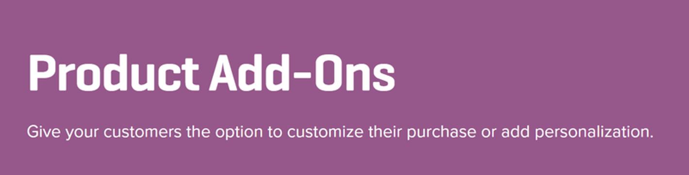 L'estensione dei componenti aggiuntivi di prodotto per WooCommerce.